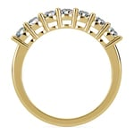 Seven Diamond Wedding Ring in Yellow Gold (3/4 ctw) | Thumbnail 03