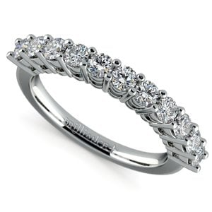 Eleven Diamond Wedding Ring in Platinum (3/4 ctw)