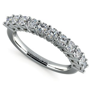 Eleven Diamond Wedding Ring in White Gold (3/4 ctw)