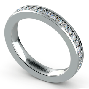 Pave Diamond Eternity Ring in Platinum (3/4 ctw)