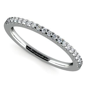 Scallop Diamond Wedding Ring in White Gold (1/4 ctw)