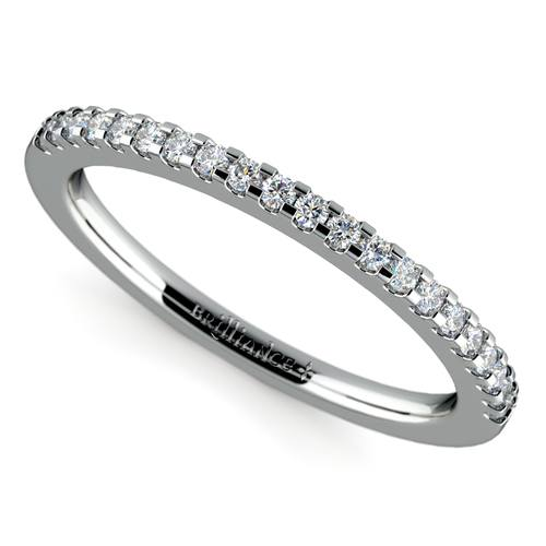 scallop diamond wedding ring in white gold 14 ctw - Wedding Ring Pics