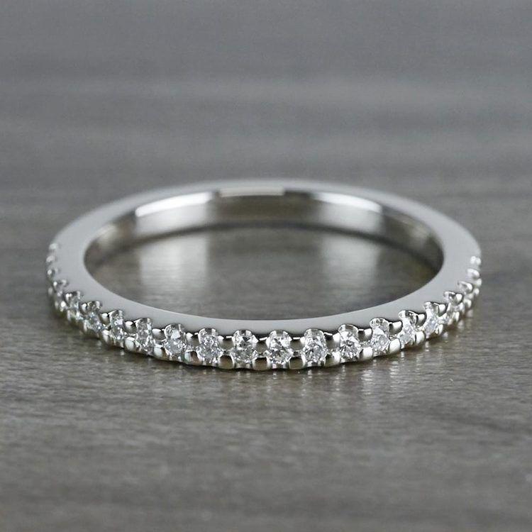Scallop Diamond Wedding Ring in White Gold (1/4 ctw) | 05