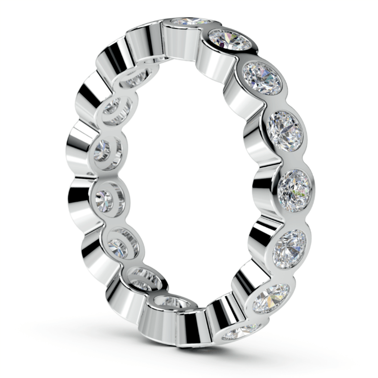 Bezel Diamond Eternity Ring in Platinum (1 3/4 ctw) | 04