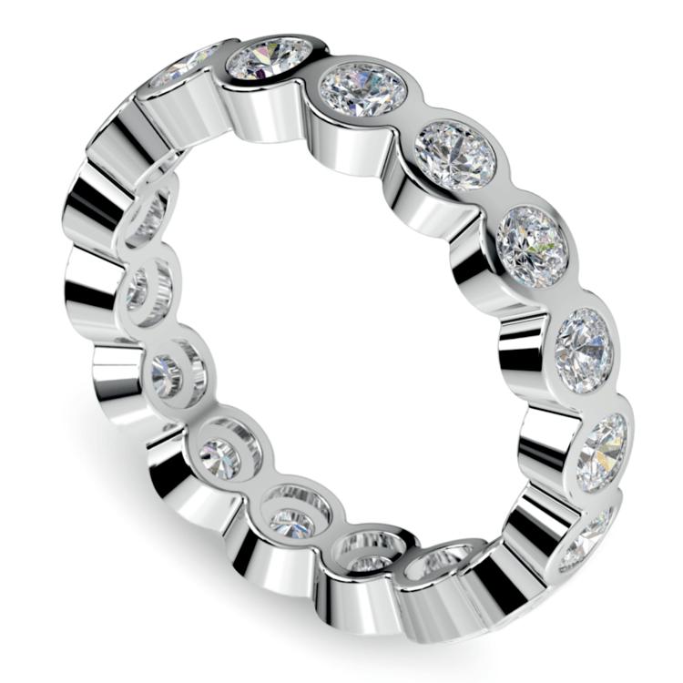 Bezel Diamond Eternity Ring in White Gold (1 3/4 ctw) | 01