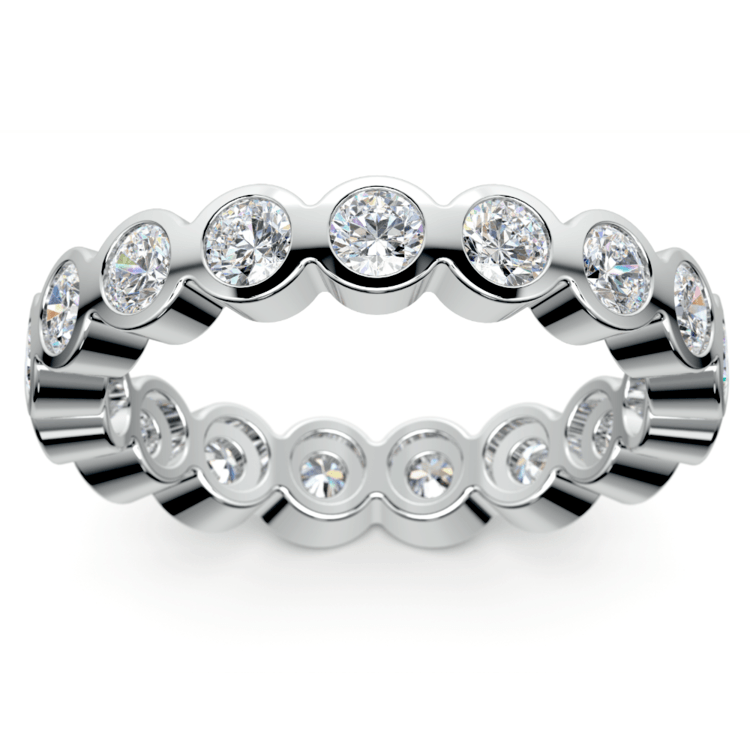 Bezel Diamond Eternity Ring in White Gold (1 3/4 ctw) | 02