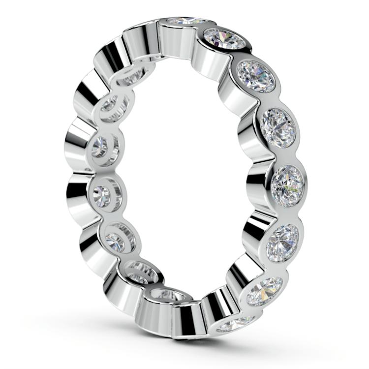 Bezel Diamond Eternity Ring in White Gold (1 3/4 ctw) | 04