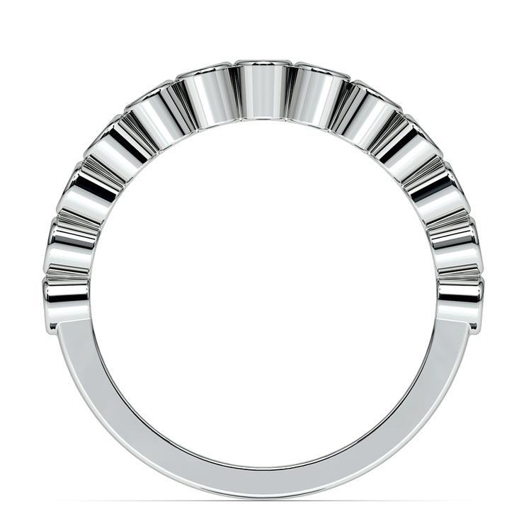 Bezel Diamond Wedding Ring in White Gold  | 03