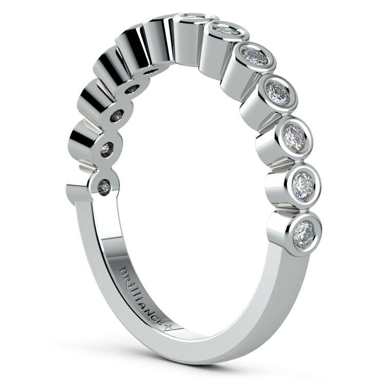Bezel Diamond Wedding Ring in White Gold  | 04