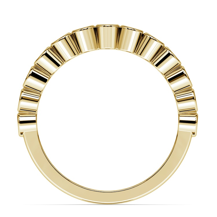 Bezel Diamond Wedding Ring in Yellow Gold  | 03