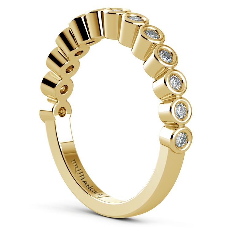 Bezel Diamond Wedding Ring in Yellow Gold  | 04