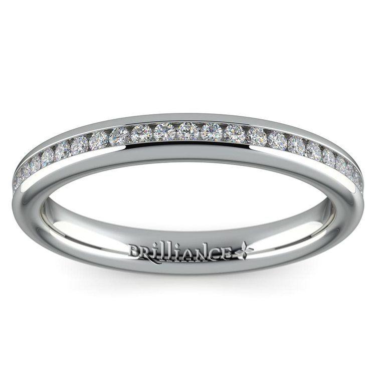 Channel Diamond Wedding Ring in Platinum (1/4 ctw) | 02