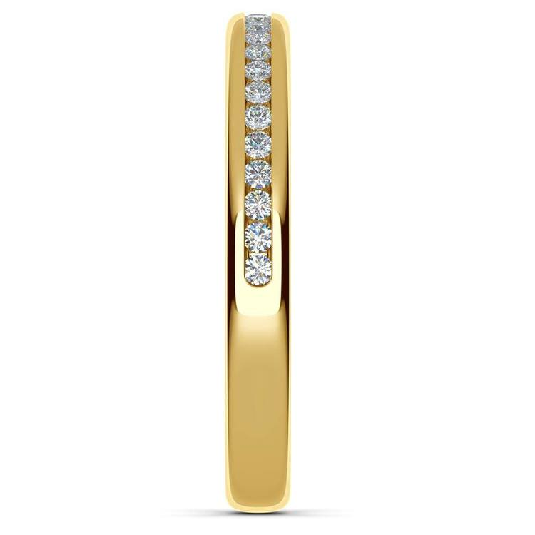 Channel Diamond Wedding Ring in Yellow Gold (1/4 ctw) | 05