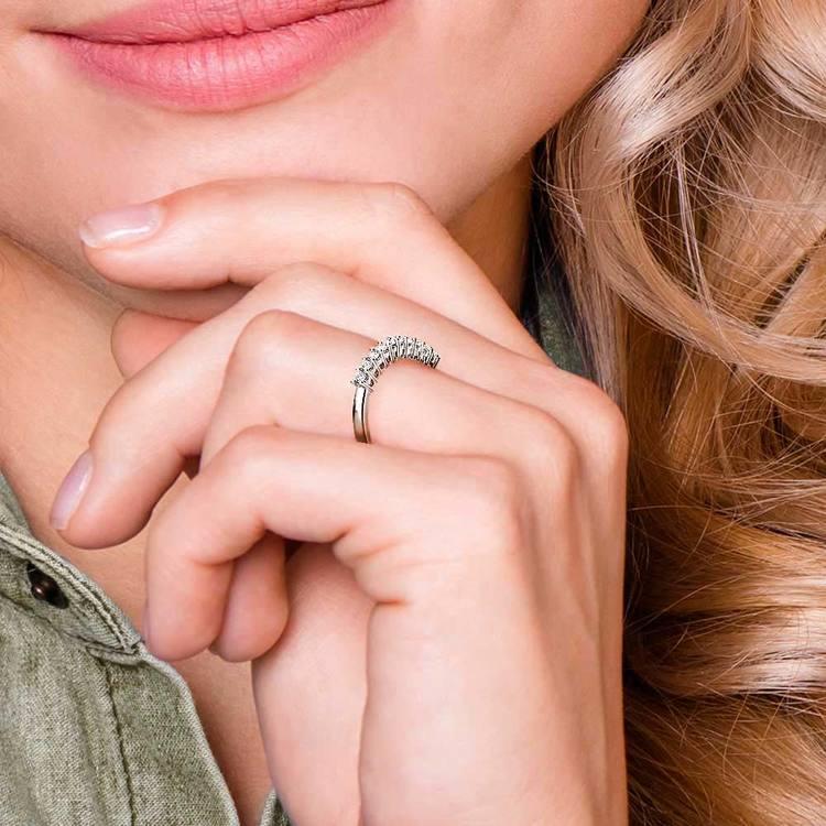 Eleven Diamond Wedding Ring in White Gold (3/4 ctw)   07