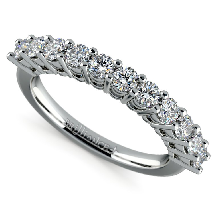 Eleven Diamond Wedding Ring in White Gold (3/4 ctw) | 01