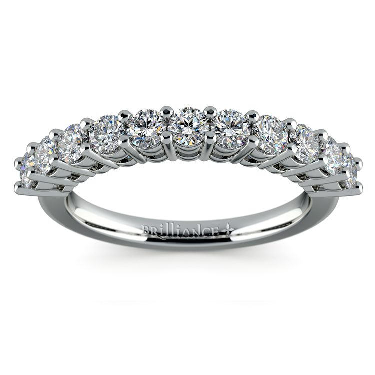 Eleven Diamond Wedding Ring in White Gold (3/4 ctw) | 02