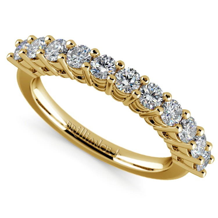 Eleven Diamond Wedding Ring in Yellow Gold (3/4 ctw) | 01
