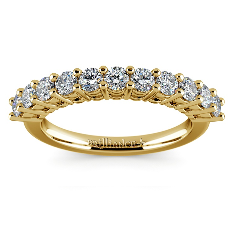 Eleven Diamond Wedding Ring in Yellow Gold (3/4 ctw) | 02