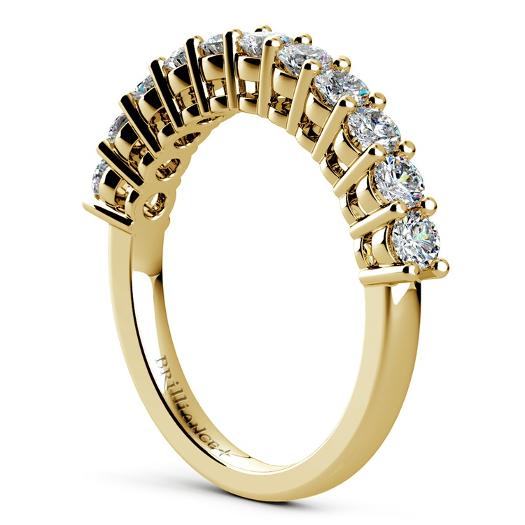 Eleven Diamond Wedding Ring in Yellow Gold (3/4 ctw) | 04