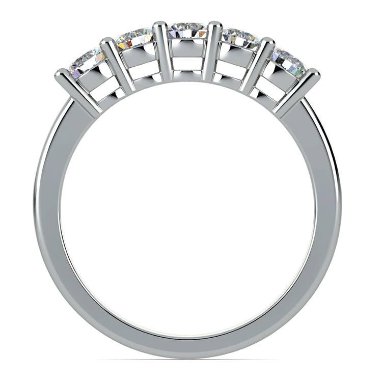 Five Diamond Wedding Ring in Platinum (3/4 ctw) | 03