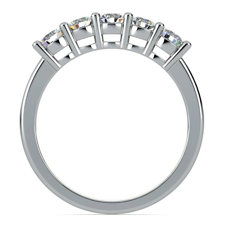 Five Diamond Wedding Ring in White Gold (3/4 ctw) | 03