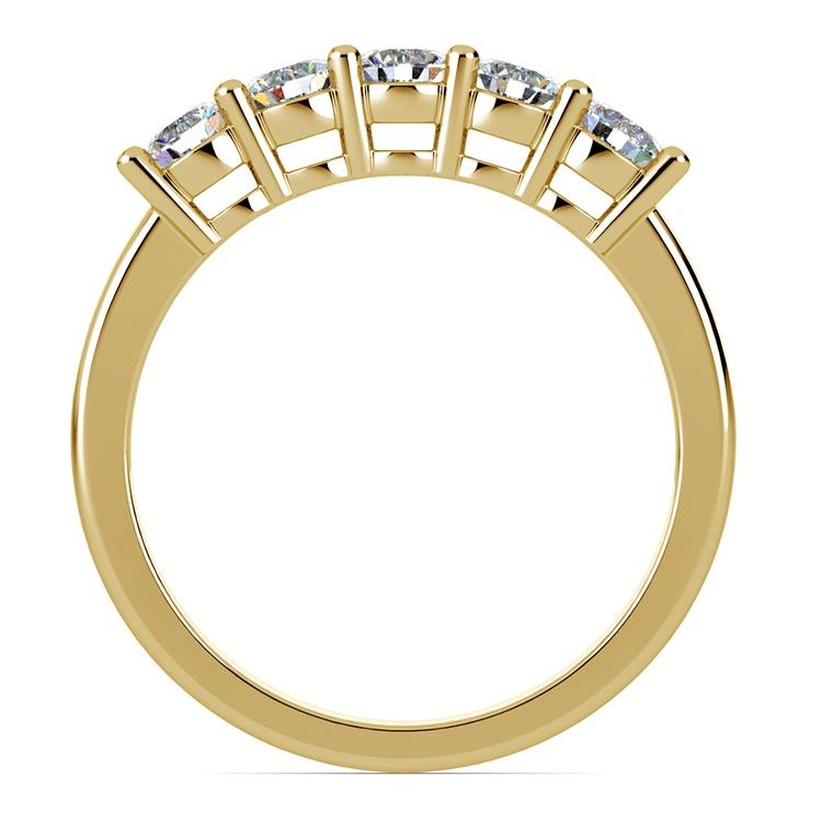 Five Diamond Wedding Ring in Yellow Gold (3/4 ctw) | 03