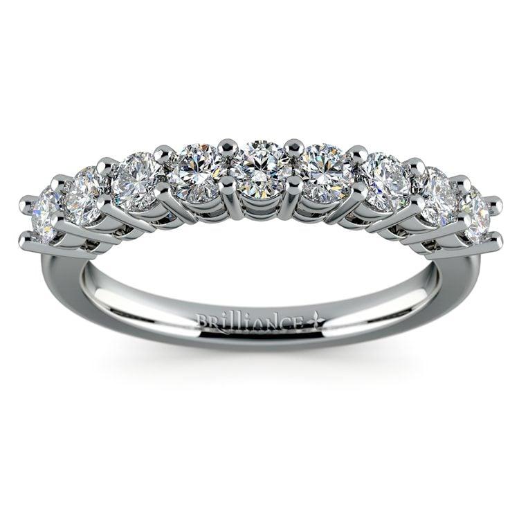 Nine Diamond Wedding Ring in Platinum (3/4 ctw) | 02