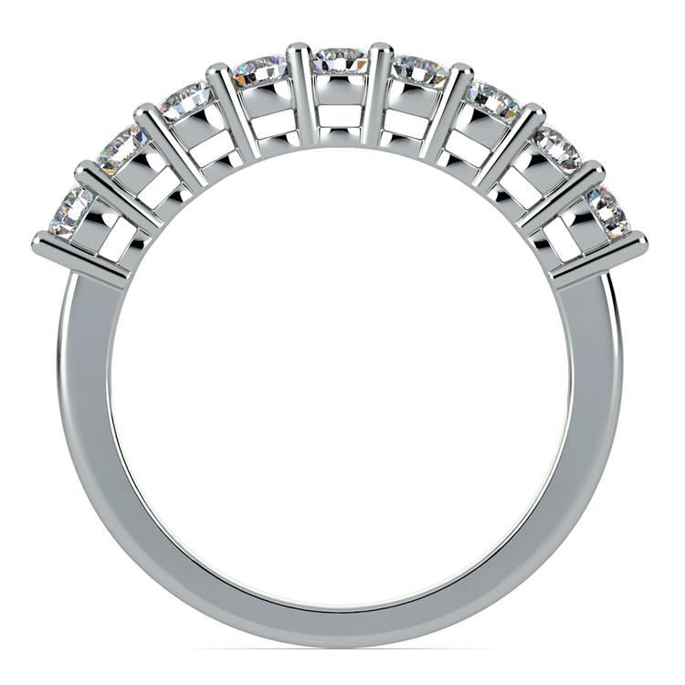 Nine Diamond Wedding Ring in White Gold (3/4 ctw) | 03