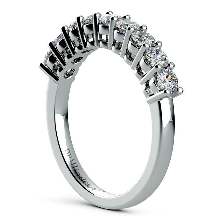 Nine Diamond Wedding Ring in White Gold (3/4 ctw) | 04