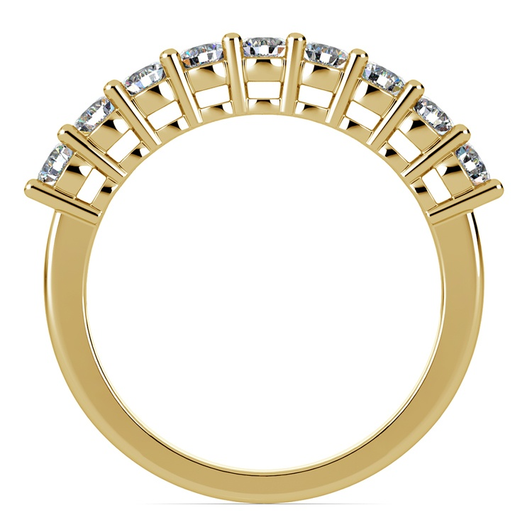 Nine Diamond Wedding Ring in Yellow Gold (3/4 ctw) | 03