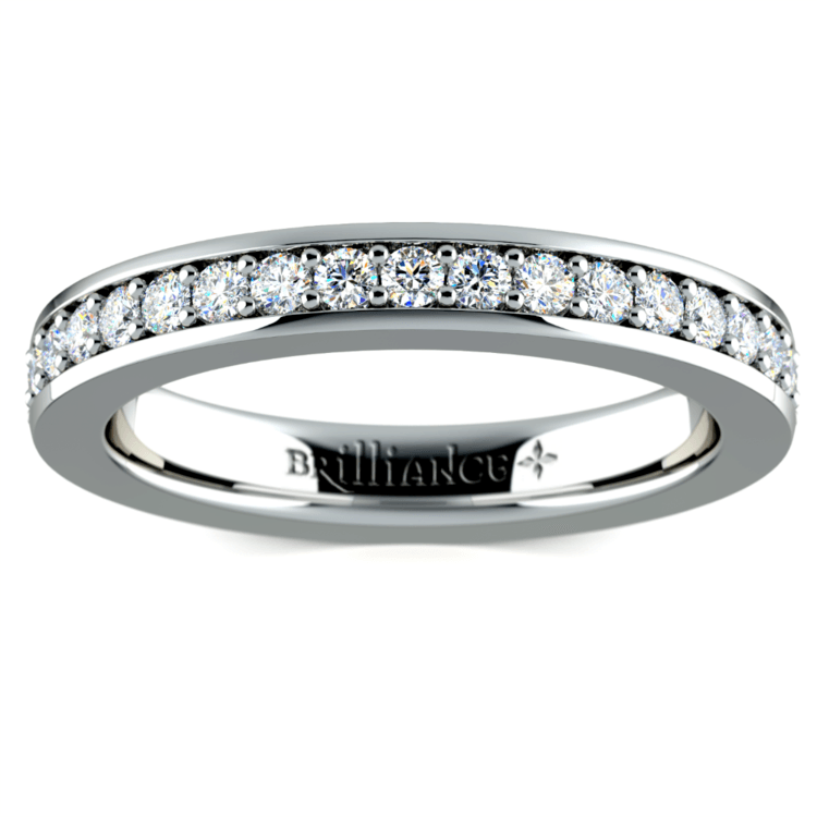 Pave Diamond Eternity Ring in Platinum (3/4 ctw) | 02