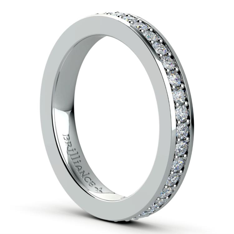 Pave Diamond Eternity Ring in Platinum (3/4 ctw) | 04