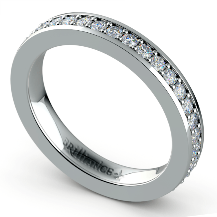 Pave Eternity Diamond Ring in White Gold (3/4 ctw) | 01