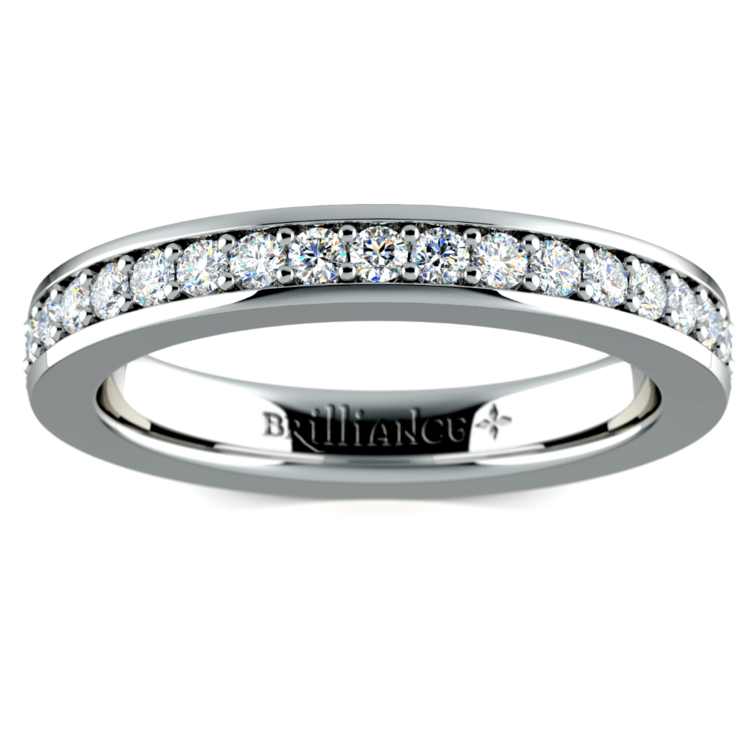 Pave Eternity Diamond Ring in White Gold (3/4 ctw) | 02