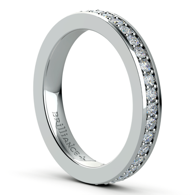 Pave Eternity Diamond Ring in White Gold (3/4 ctw) | 04