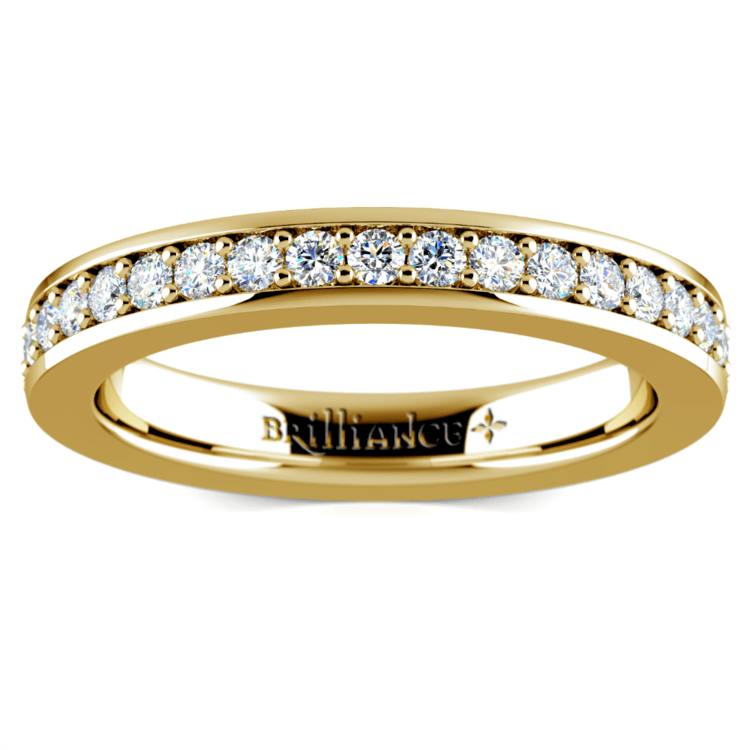 Pave Eternity Diamond Ring in Yellow Gold (3/4 ctw) | 02