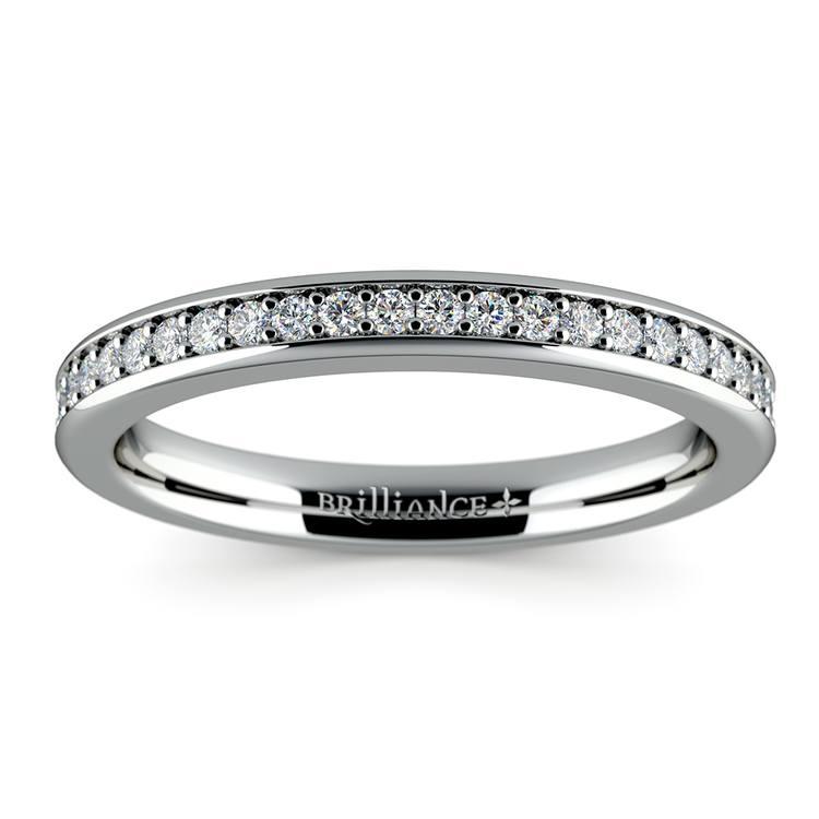 Pave Diamond Wedding Ring in Platinum  | 02