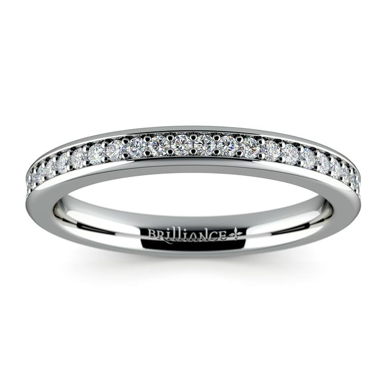 Pave Diamond Wedding Ring in White Gold  | 02