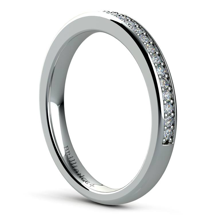 Pave Diamond Wedding Ring in White Gold  | 04