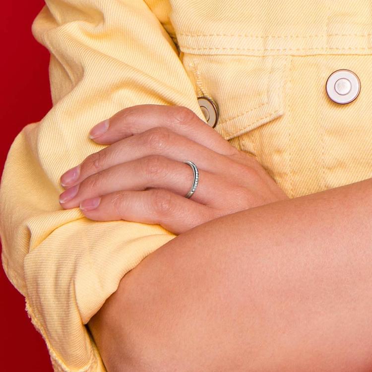 Pave Diamond Wedding Ring in Platinum    07