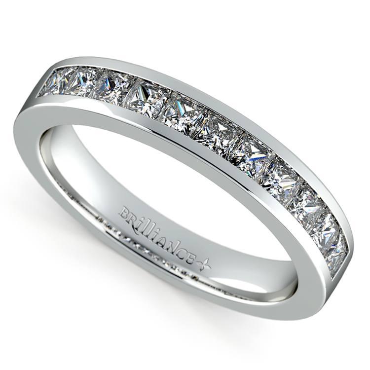 Princess Channel Diamond Wedding Ring in Platinum (3/4 ctw) | 01