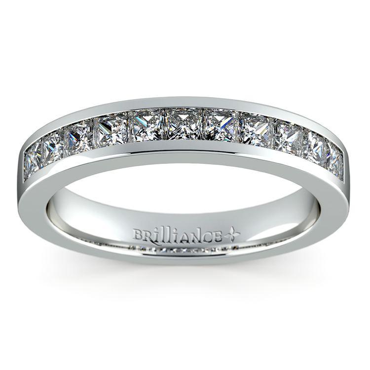 Princess Channel Diamond Wedding Ring in Platinum (3/4 ctw) | 02