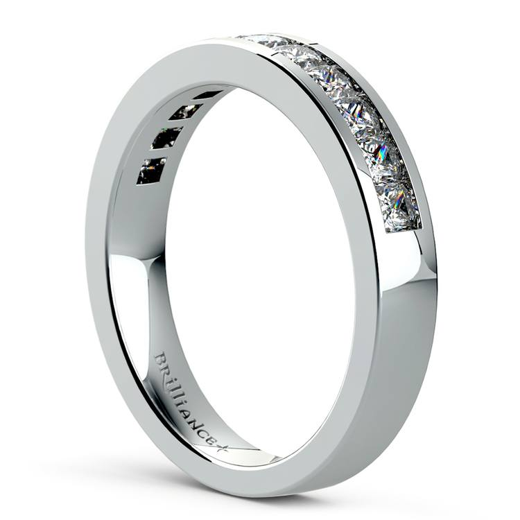 Princess Channel Diamond Wedding Ring in White Gold (3/4 ctw) | 04