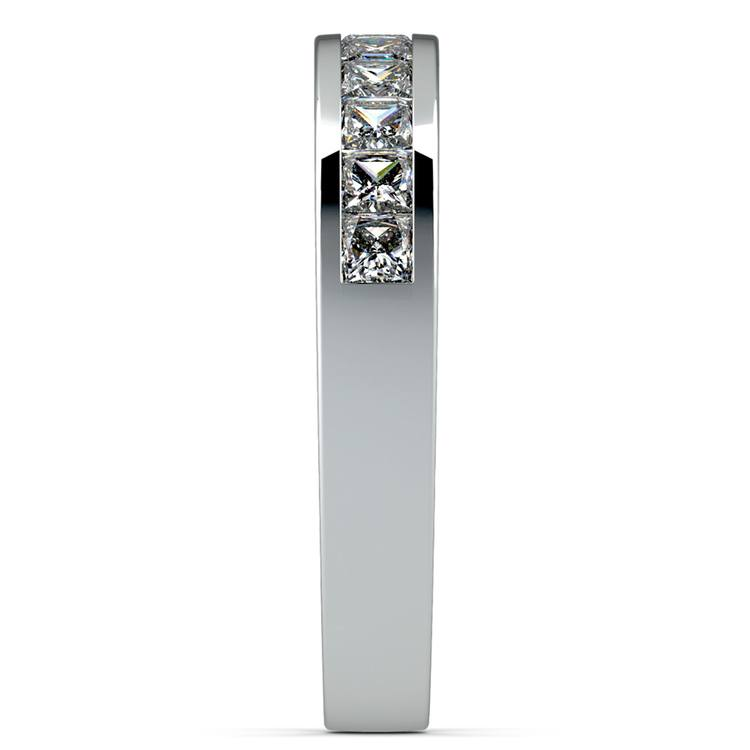 Princess Channel Diamond Wedding Ring in White Gold (3/4 ctw) | 05