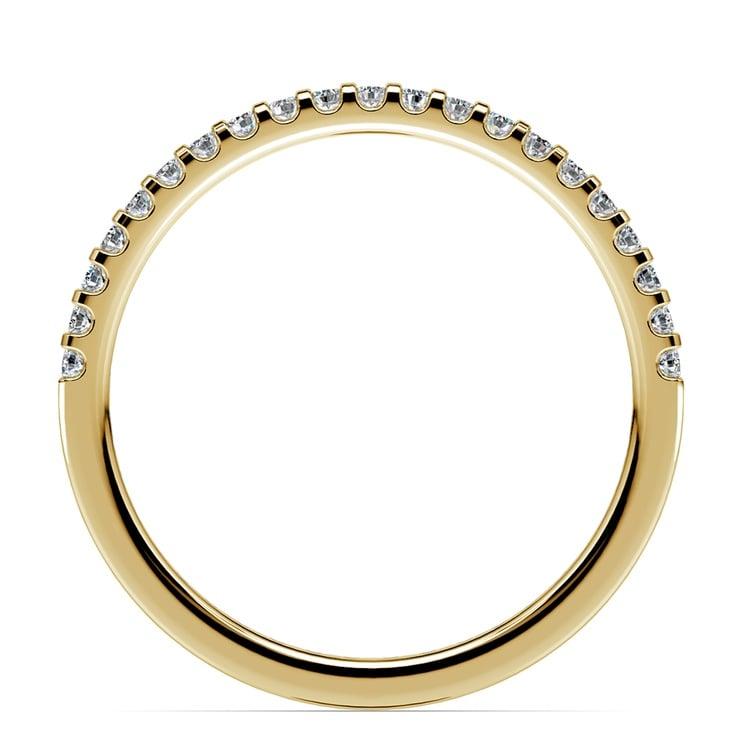 Scallop Diamond Wedding Ring in Yellow Gold (1/4 ctw) | 03