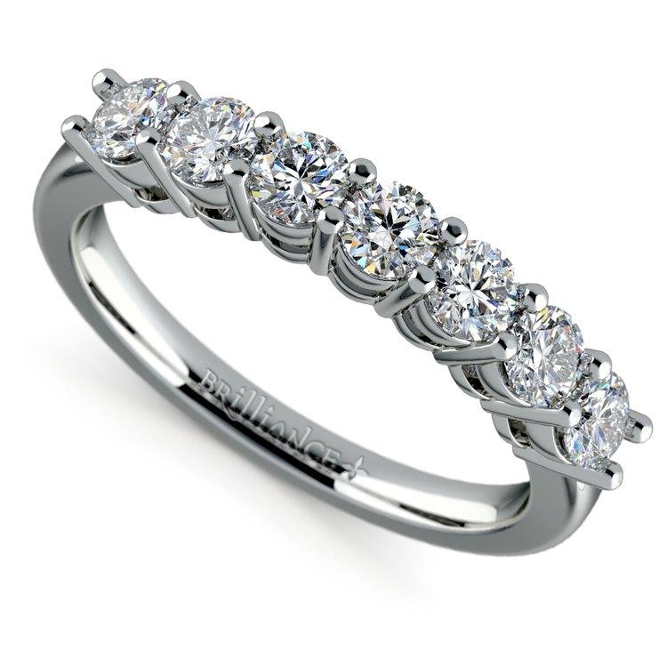 Seven Diamond Wedding Ring in Platinum (3/4 ctw) | 01
