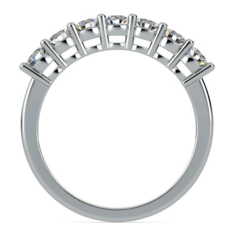 Seven Diamond Wedding Ring in Platinum (3/4 ctw) | 03