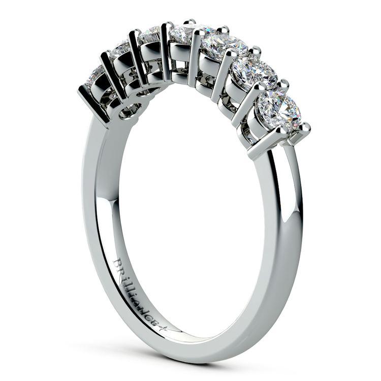 Seven Diamond Wedding Ring in Platinum (3/4 ctw) | 04