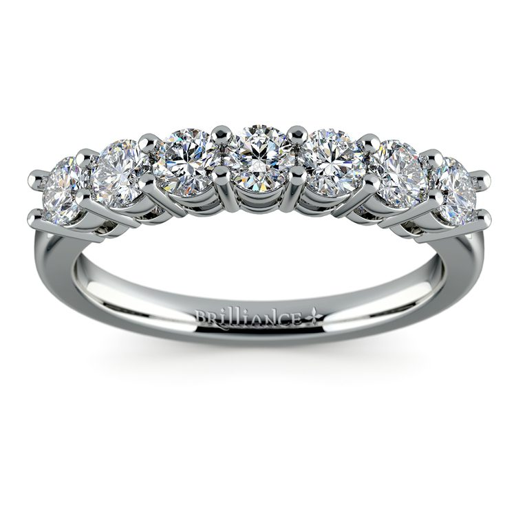Seven Diamond Wedding Ring in White Gold (3/4 ctw) | 02