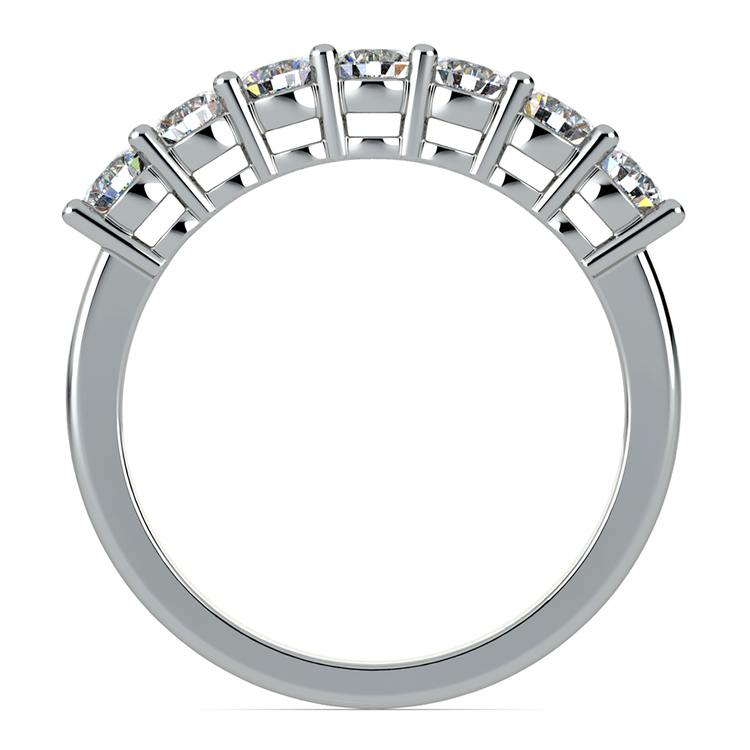 Seven Diamond Wedding Ring in White Gold (3/4 ctw) | 03